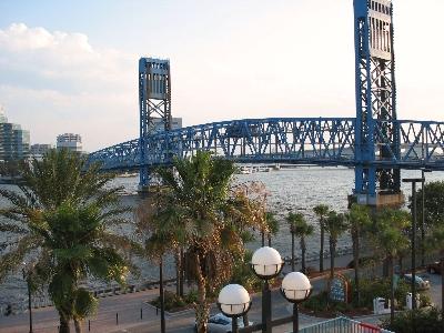 St John River from hotel balcony