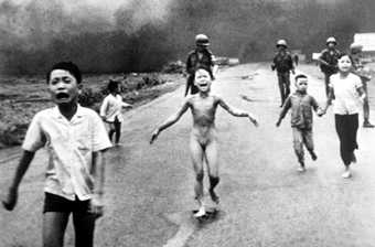 children running from napalm