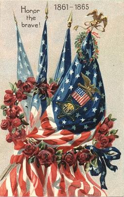 antique patriotic card