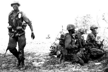 Platoon Leader, Lieutenant Dexter Judd, calls in artillery strike