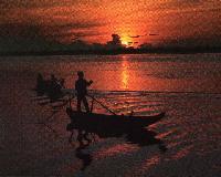 sanpan sunset