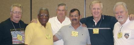 Carl Schmeckpeper, Charles Powell, Lt. Dexter Judd, Castulo Camarillo, Fred Schaaff, Gary Jacobson