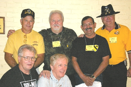 Front: Carl Schmeckpeper, Fred Schaaff. Back: Dale Snyder, Gary Jacobson, Castulo Camarillo, Lt. Dexter Judd.