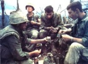 Lunch at the hole for Quang Tri Marines