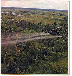 Agent Orange defoliation spray